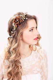 flower headpiece autumn wedding package flower crown wedding headpiece bridal
