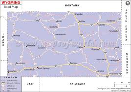 map of wyoming road map