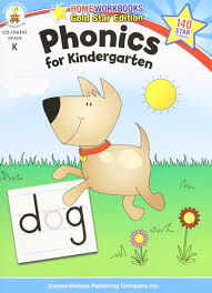 amazon com phonics for kindergarten grade k home workbook