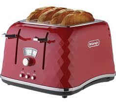 4 Slice Toaster Delonghi Buy De U0027longhi Brillante 4 Slice Toaster Red At Argos Co Uk