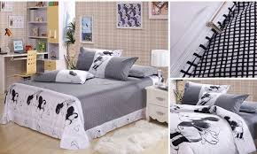 Queen Minnie Mouse Comforter Cotton 4pcs Queen Size 3d Hello Kitty Mickey Mouse And Minnie
