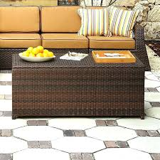 Wicker Storage Ottoman Coffee Table Wicker Storage Ottomans Thesaucytomato Info