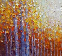 dining room wall art autumn tree painting abstract painting