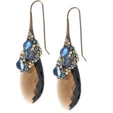 smoky quartz earrings bittar encrusted smoky quartz drop earrings