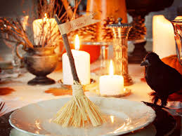 witch u0027s broom halloween place card holders hgtv