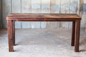 sofa table reclaimed wood sofa table reclaimed wood farm table