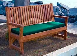 bench cushion wooden benches forever redwood