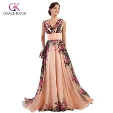 ladies evening dresses 2017 grace karin elegant flower chiffon