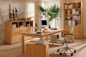 nice modern home office furniture ideas with soft light wooden