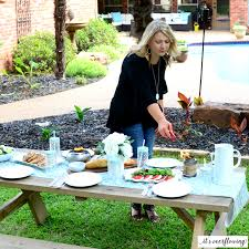 casual backyard dining tips its overflowing