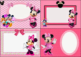 Minnie Mouse Invitation Card Minnie Mouse In Pink Free Printable Invitations Labels Or Cards