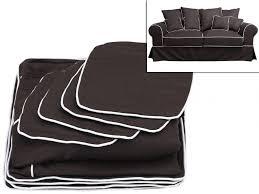 housses pour canapé housses de canapé 2 places en tissu clara 2 coloris