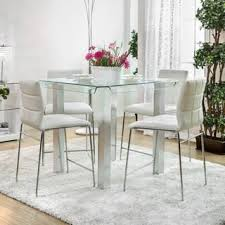 Silver Dining Table And Chairs Glass Dining Room U0026 Kitchen Tables For Less Overstock Com