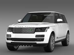 land rover autobiography white range rover autobiography black lwb l405 by creator 3d 3docean