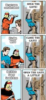 Smash Bros Memes - open the gate a little super smash brothers know your meme
