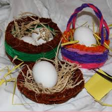 chenille easter easter basket craft for kids
