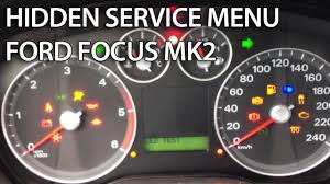 how to enter hidden service menu in ford focus mk2 c max secret