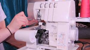 how to thread a serger overlock machine youtube