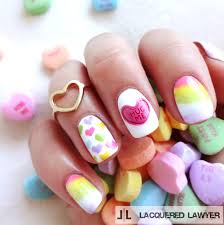 lacquered lawyer nail art blog conversation hearts