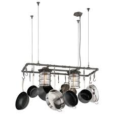 oil rubbed bronze pot rack with lights ceiling lighting goingdeals com