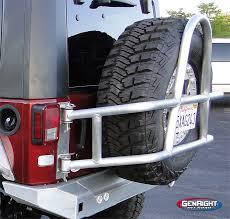 jeep wrangler jk tires genright lockable rear tire carrier for jeeps is bulletproof