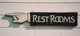 antique bathroom sign design ideas