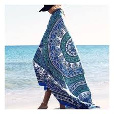 home accessory blue mandala hippie tapestry beach blanket wall