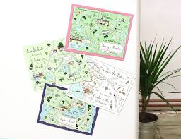 Save The Date Invitation Custom Map Save The Date Or Invitation Magnet By Cute Maps