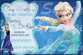 frozen birthday party invitations printable choice image