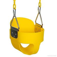 siege balancoire bébé outcamer jeu de plein air balançoire siège bébé jaune bleu