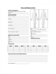 first aid incident report form template incident report template