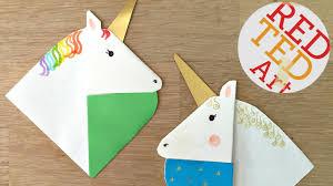 unicorn bookmarks with jenny from origami tree nextup 2016 youtube