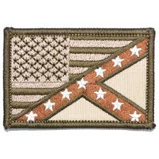 Confederate Flag Wallet Mexican American Flag Patch 2x3 Inch Tactical Gear Junkie