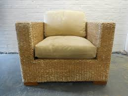 Kreiss Outdoor Furniture by Kreiss Collection Malaysian Woven Banana Leaf Lounge Chair And Ottoman