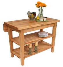 beautiful adjustable kitchen island with butcher block table and