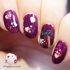 piggieluv smashed hearts nail art for anti valentine u0027s