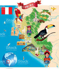 Cusco South America Map by Cartoon Map Of Peru Stock Vector Art 484053908 Istock