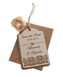 save the date luggage tags kraft card save the date luggage tags floral cut x 25 available