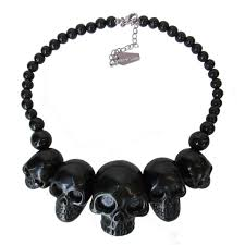 black large necklace images Skull collection necklace black skull necklace black skulls and jpg