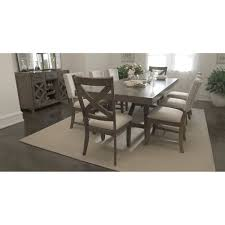 city furniture omaha gray rectangular table u0026 4 upholstered chairs