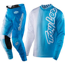 kids motocross gear combo troy lee designs new 2017 gp air vented 50 50 white blue tld