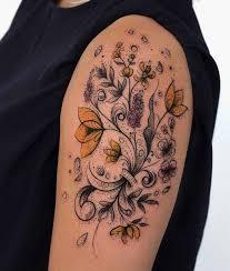 vintage floral tattoo best tattoo ideas gallery