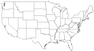 empty map of united states map us outline style major tourist attractions maps us