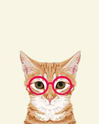 Hipster Cat Meme - ginger cute cat with glasses hipster cat art for dorm college