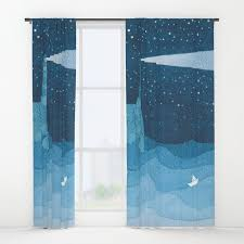 Lighthouse Window Curtains Lighthouse Illustration Window Curtains Decorating Sky