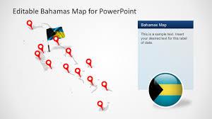 The Bahamas Map The Bahamas Editable Map For Powerpoint Slidemodel
