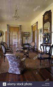 living room or salon interior of eureka built 1830 colonial