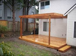 custom patio cover cedar deck u2013 deck masters llc portland or