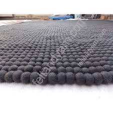 Nepal Felt Ball Rug Large Felt Ball Rug In Grey Color Rectangular Felt Ball Rug