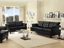 Genuine Leather Living Room Sets Sofa Living Room Furniture Canada Black Genuine Leather